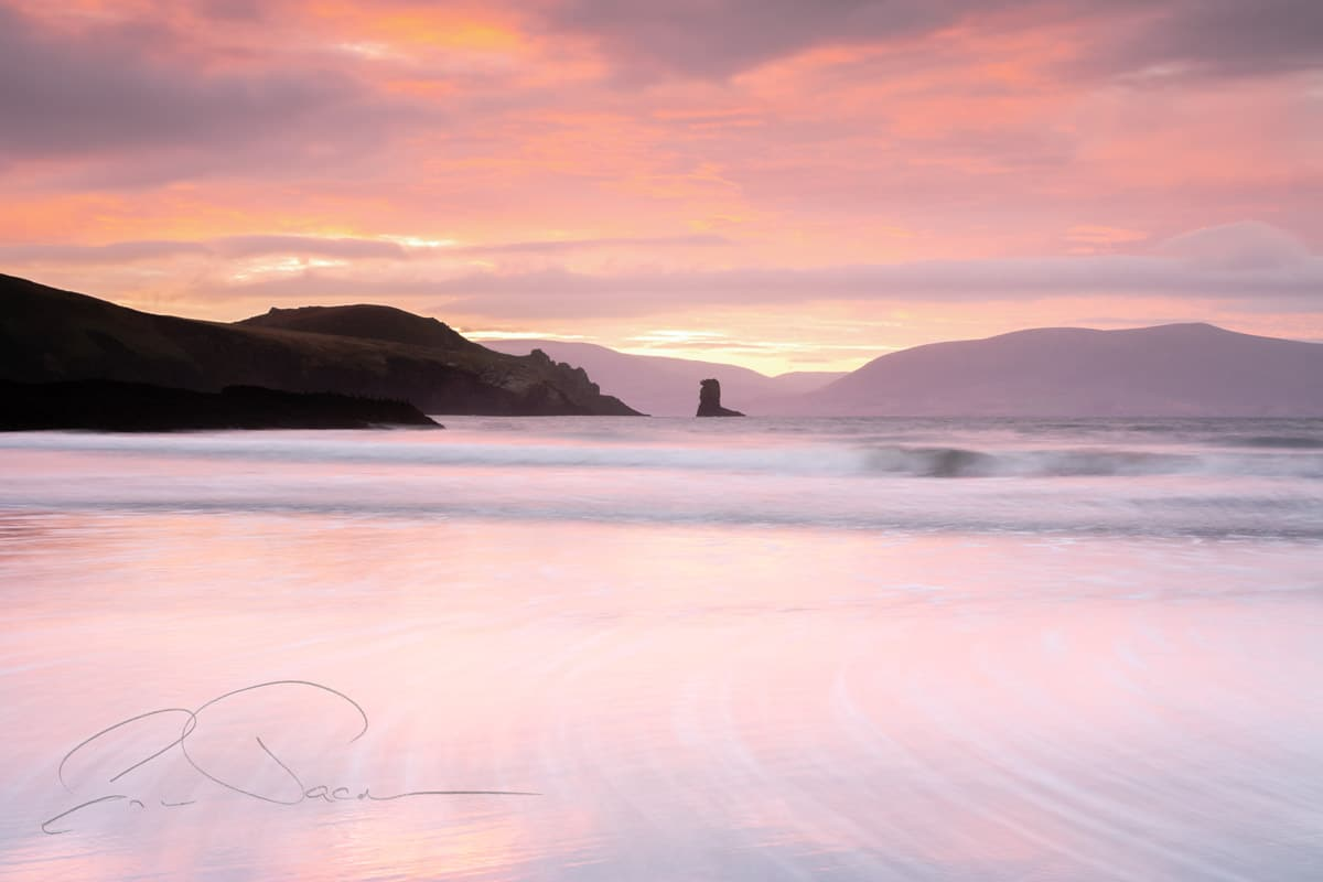 Just before sunrise on the beach at Doonshean, Dingle, Co. Kerry, Ireland