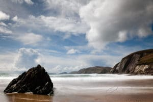 Long exposure photograph at Coumeenoole Strand, Dingle